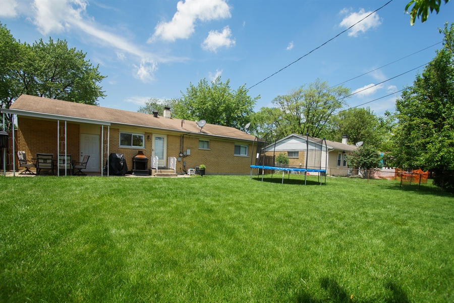 Real Estate Photography - 1061 Leahy Circle, Des Plaines, IL, 60016 - Rear View