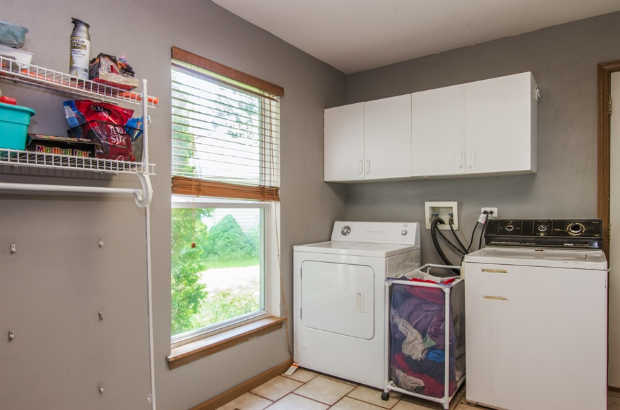 Real Estate Photography - 1402 Stanford Circle, Carpentersville, IL, 60110 - 1st floor Laundry Room