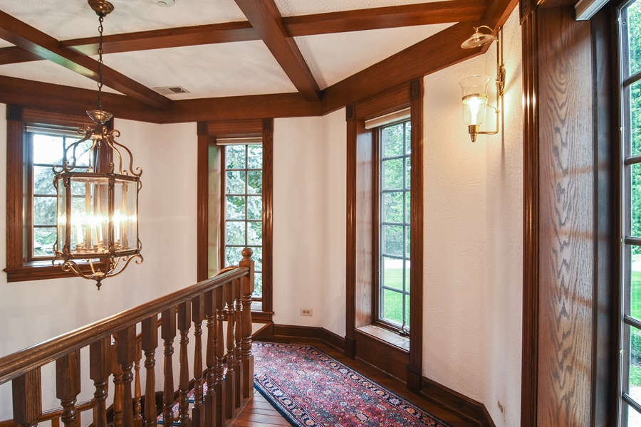 Real Estate Photography - 585 Windsor Road, Inverness, IL, 60067 - Back Stairway
