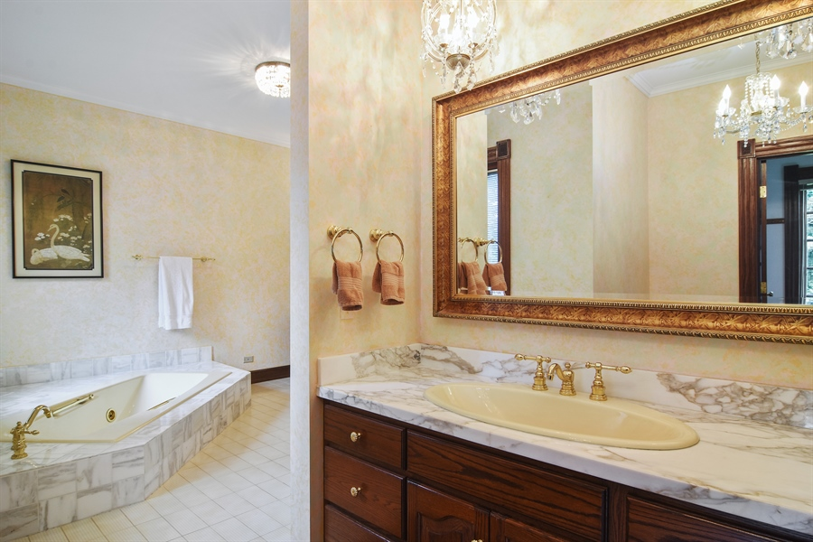 Real Estate Photography - 585 Windsor Road, Inverness, IL, 60067 - Master Bathroom