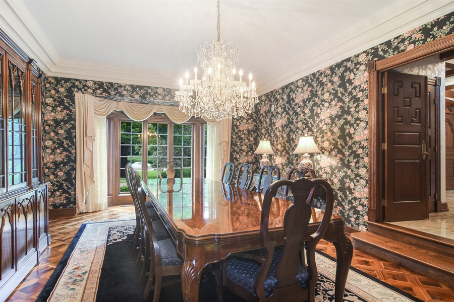 Real Estate Photography - 585 Windsor Road, Inverness, IL, 60067 - Dining Room