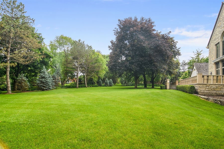 Real Estate Photography - 585 Windsor Road, Inverness, IL, 60067 - Back Yard