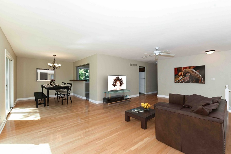 Real Estate Photography - 6N907 BRIERWOOD Drive, Campton Hills, IL, 60175 - Living Room/Dining Room Staged