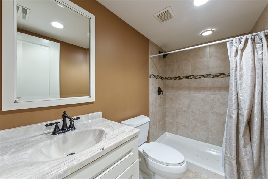 Real Estate Photography - 1531 S. Douglas Avenue, Arlington Heights, IL, 60005 - Downstairs bathroom.