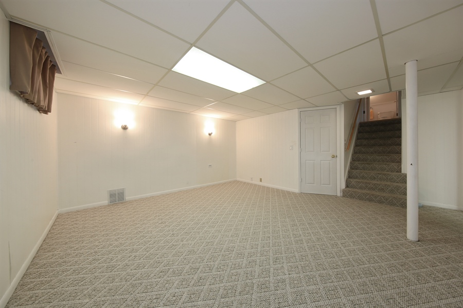 Real Estate Photography - 1248 Sandpiper Lane, Naperville, IL, 60540 - Finished Basement