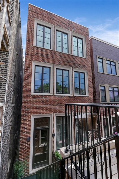 Real Estate Photography - 1720 N. MOHAWK Street, Chicago, IL, 60614 - Rear View