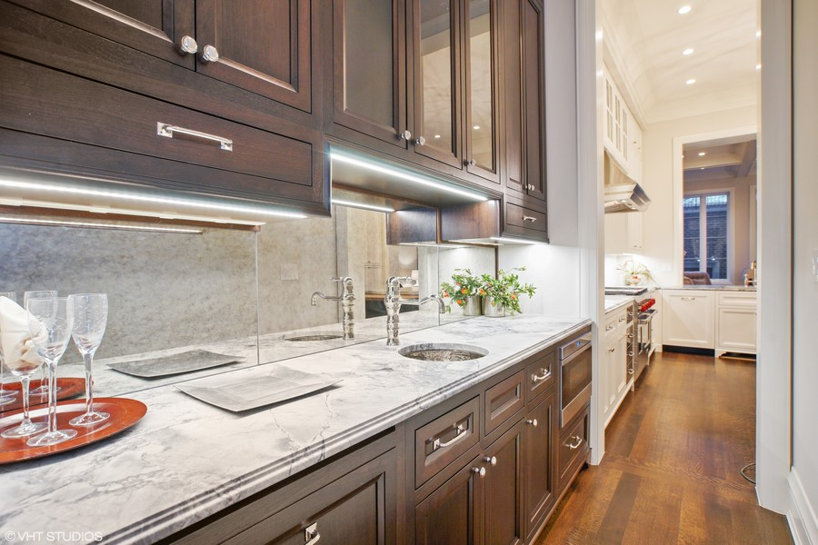 Real Estate Photography - 1720 N. MOHAWK Street, Chicago, IL, 60614 - Butler's Pantry