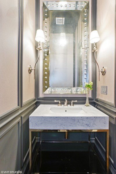 Real Estate Photography - 1720 N. MOHAWK Street, Chicago, IL, 60614 - Powder Room
