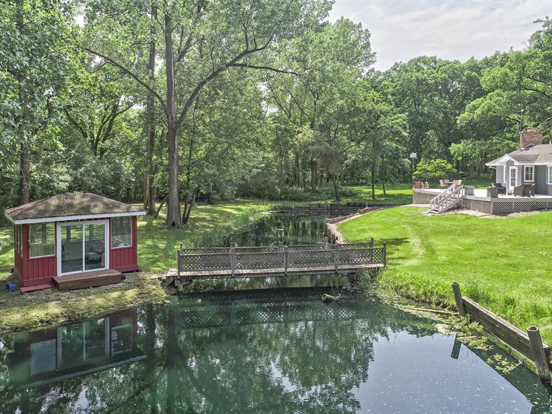 Real Estate Photography - 11N226 Peplow Road, Hampshire, IL, 60140 - Aerial View