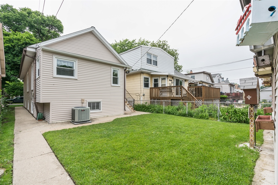 Real Estate Photography - 4619 N. Leamington Avenue, Chicago, IL, 60630 - Rear View