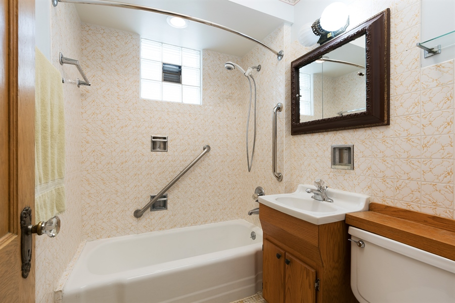 Real Estate Photography - 4619 N. Leamington Avenue, Chicago, IL, 60630 - Bathroom