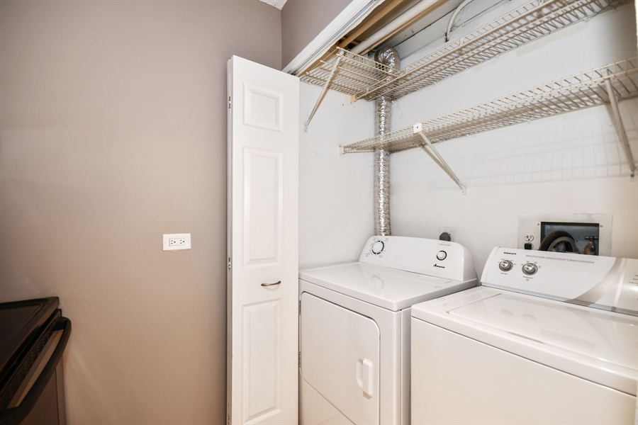 Real Estate Photography - 470 FAWELL Boulevard, Unit 119, Glen Ellyn, IL, 60137 - Laundry Room