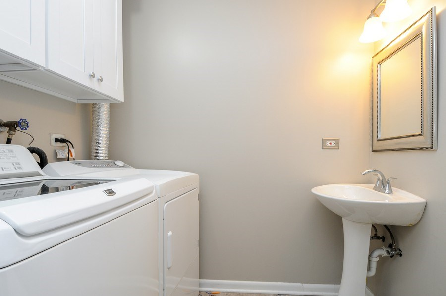 Real Estate Photography - 1612 Bay Court, Naperville, IL, 60565 - Laundry Room