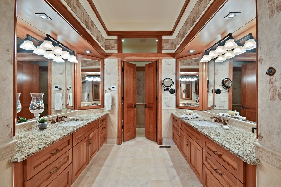 Real Estate Photography - 625 Bowling Green Court, Naperville, IL, 60563 - His & Hers vanities and even a bidet