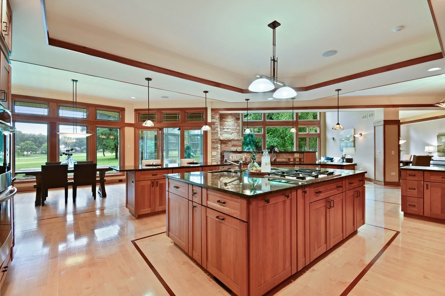 Real Estate Photography - 625 Bowling Green Court, Naperville, IL, 60563 - Panaroramic views & open to the breakfast rm.