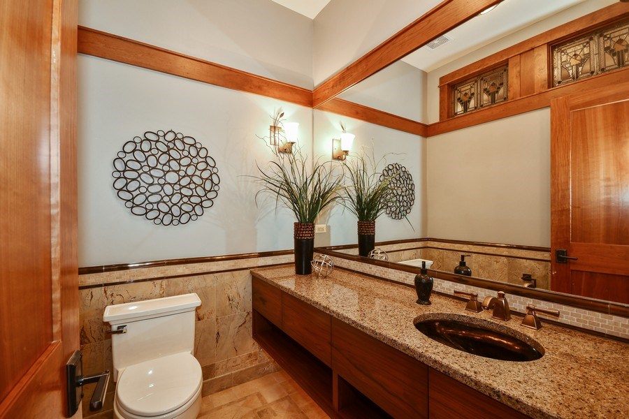 Real Estate Photography - 625 Bowling Green Court, Naperville, IL, 60563 - Finely appointed guest bath