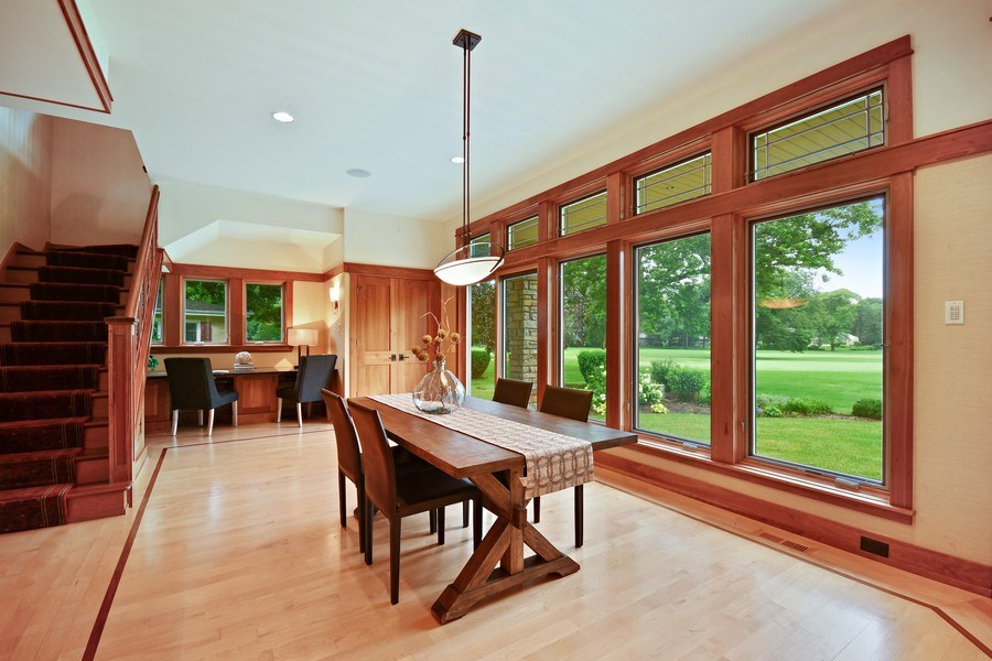 Real Estate Photography - 625 Bowling Green Court, Naperville, IL, 60563 - Breakfast room leads to a work at home area