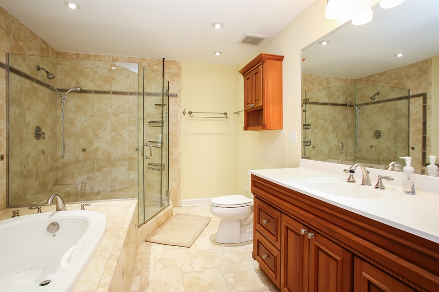 Real Estate Photography - 484 DOMINION Court, Wood Dale, IL, 60191 - Master Bathroom