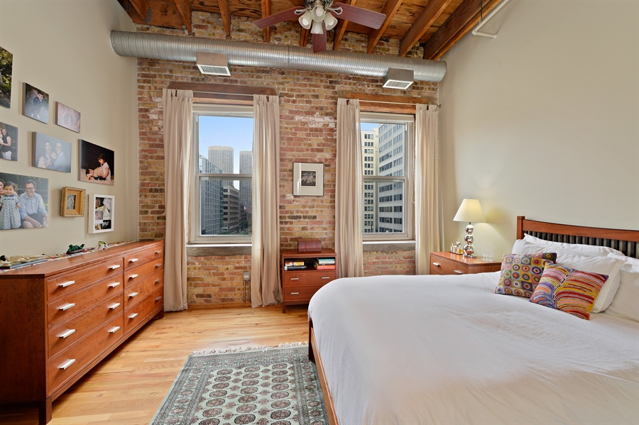 Real Estate Photography - 417 S. Jefferson Street, Unit 504B, Chicago, IL, 60607 - Master Bedroom