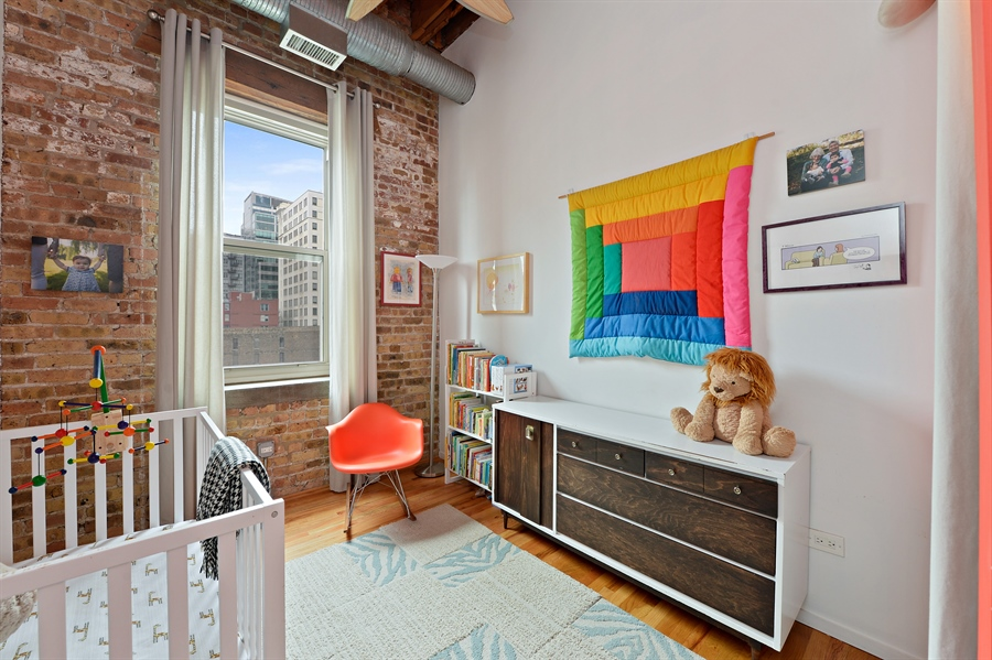 Real Estate Photography - 417 S. Jefferson Street, Unit 504B, Chicago, IL, 60607 - 2nd Bedroom