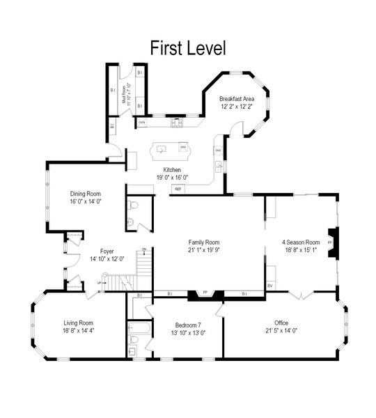 Real Estate Photography - 1507 Sunset Road, Highland Park, IL, 60035 - Floor Plan