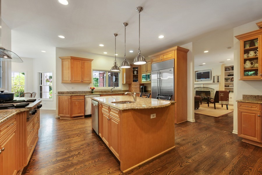 Real Estate Photography - 1507 Sunset Road, Highland Park, IL, 60035 - Family Room / Kitchen