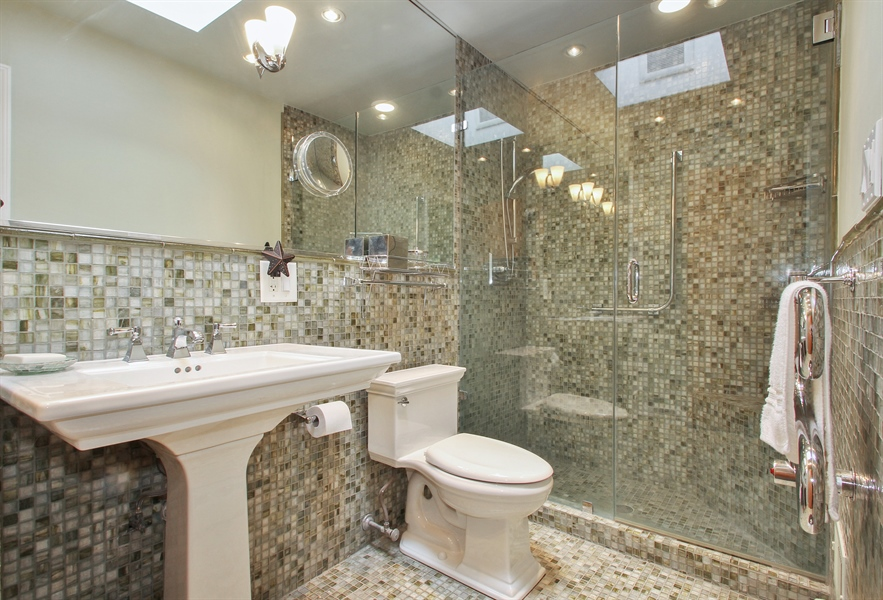 Real Estate Photography - 4500 W. Rosemont Avenue, Chicago, IL, 60646 - Master Bathroom