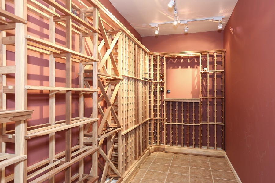 Real Estate Photography - 2S428 Chaucer Court, Glen Ellyn, IL, 60137 - Wine Cellar