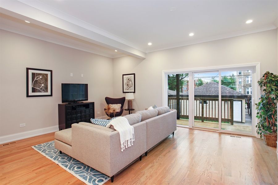 Real Estate Photography - 6423 S. Ingleside Avenue, Chicago, IL, 60637 - Living Room