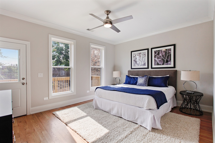 Real Estate Photography - 6423 S. Ingleside Avenue, Chicago, IL, 60637 - Master Bedroom