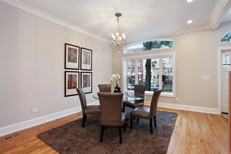 Real Estate Photography - 6423 S. Ingleside Avenue, Chicago, IL, 60637 - Dining Room