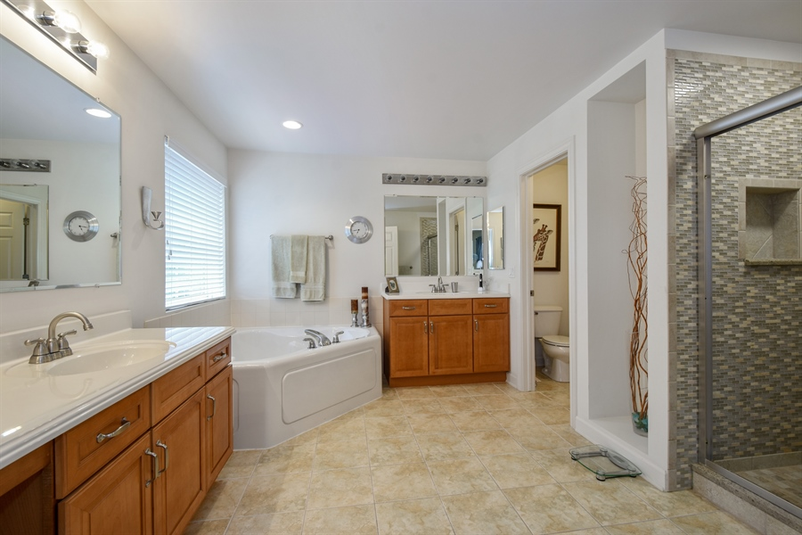 Real Estate Photography - 2500 Stonybrook Street, Wauconda, IL, 60084 - Master Bathroom