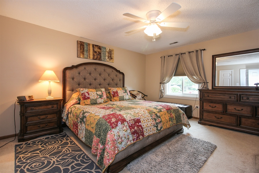 Real Estate Photography - 15726 Orlan Brook Drive, Unit 196, Orland Park, IL, 60462 - Master Bedroom