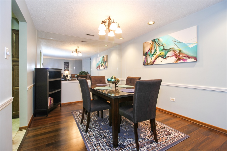 Real Estate Photography - 15726 Orlan Brook Drive, Unit 196, Orland Park, IL, 60462 - Dining Room