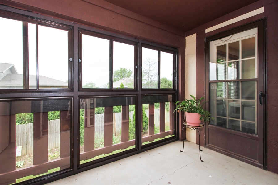 Real Estate Photography - 15726 Orlan Brook Drive, Unit 196, Orland Park, IL, 60462 - Balcony
