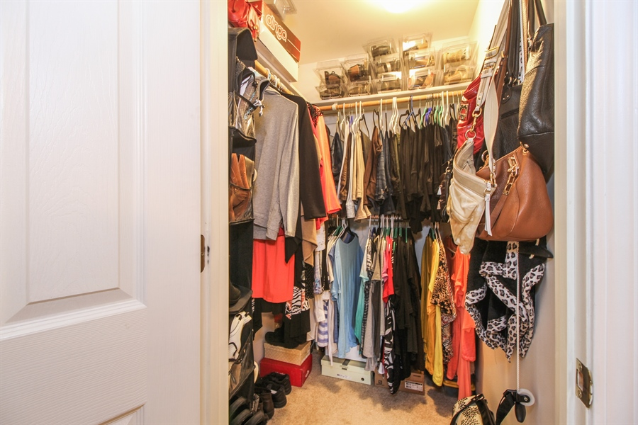Real Estate Photography - 15726 Orlan Brook Drive, Unit 196, Orland Park, IL, 60462 - Master Bedroom Closet