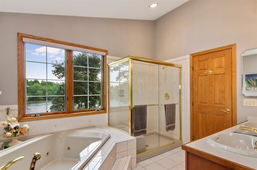Real Estate Photography - 353 Mildred Avenue, Cary, IL, 60013 - Master Bathroom