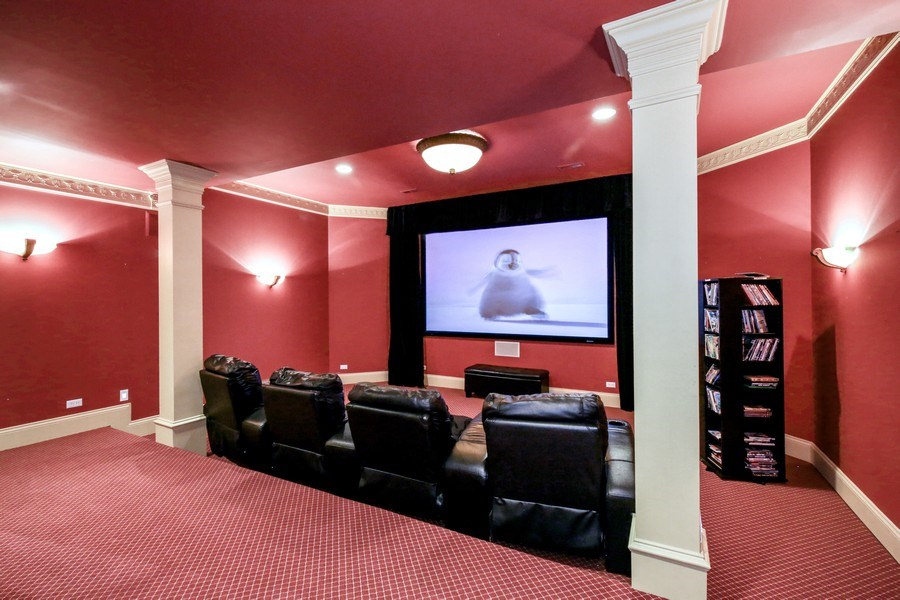 Real Estate Photography - 3602 Grandview, St Charles, IL, 60174 - Theatre Room