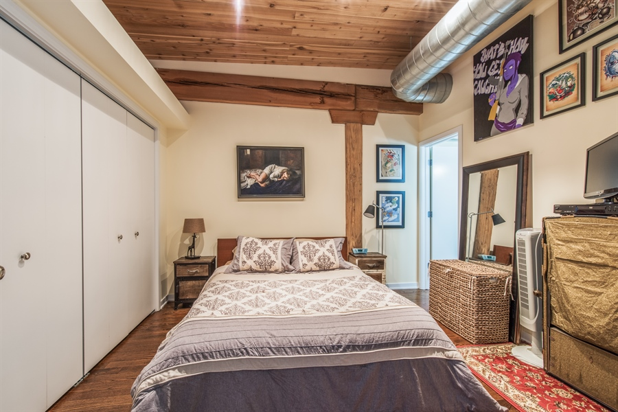 Real Estate Photography - 3201 N. RAVENSWOOD Avenue, Unit 303, Chicago, IL, 60657 - Master Bedroom