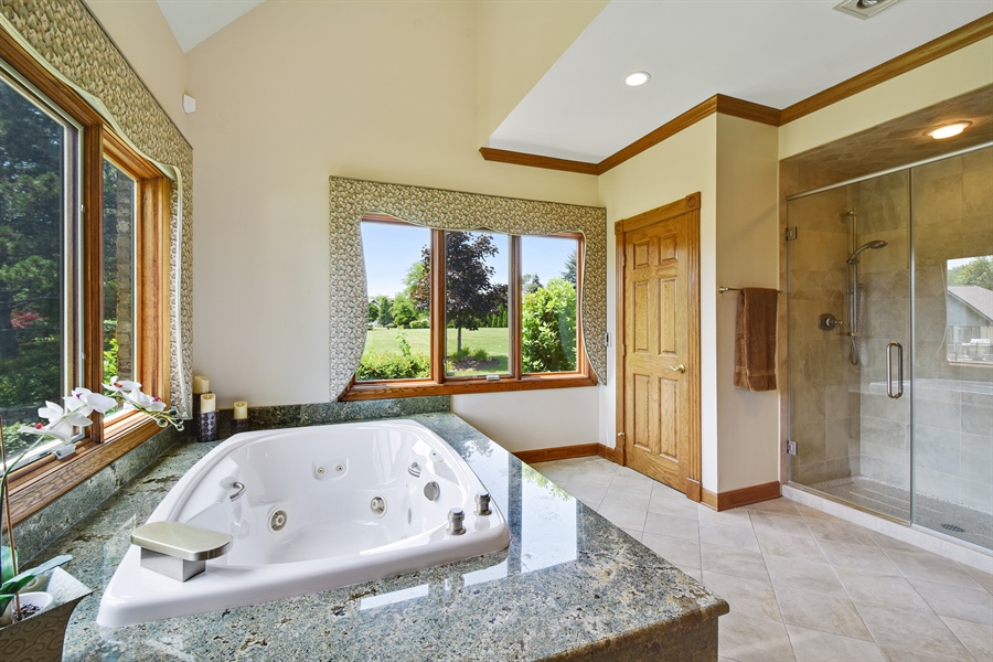 Real Estate Photography - 1314 Dunheath Drive, Barrington, IL, 60010 - Master Bathroom
