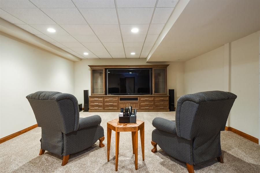 Real Estate Photography - 1314 Dunheath Drive, Barrington, IL, 60010 - Media Room