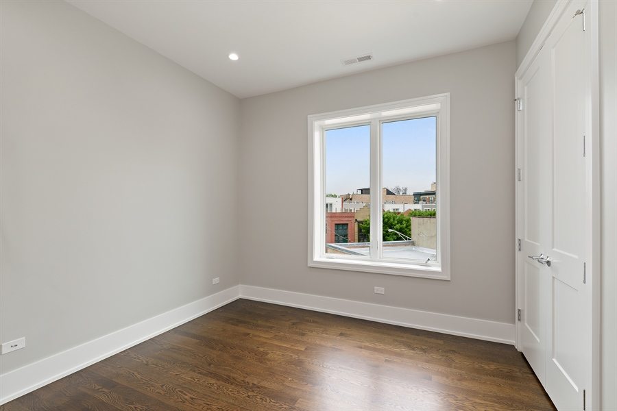 Real Estate Photography - 2918 N. Lakewood Avenue, Unit 2, Chicago, IL, 60657 - 2nd Bedroom