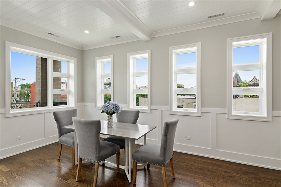 Real Estate Photography - 2918 N. Lakewood Avenue, Unit 2, Chicago, IL, 60657 - Dining Room