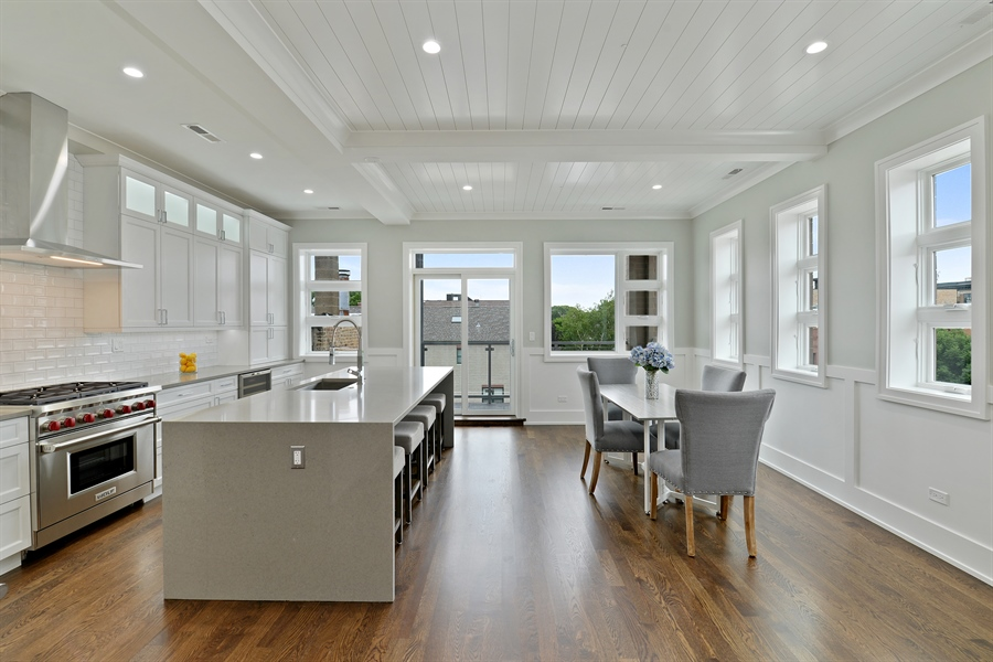 Real Estate Photography - 2918 N. Lakewood Avenue, Unit 2, Chicago, IL, 60657 - Kitchen / Dining Room