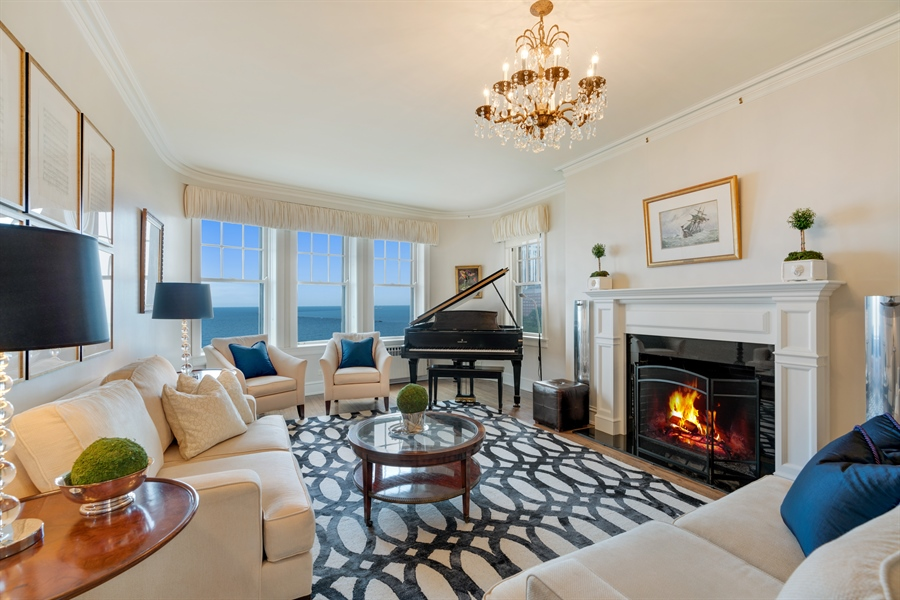 Real Estate Photography - 1120 N. Lake Shore Drive, Unit 8A, Chicago, IL, 60611 - Living Room