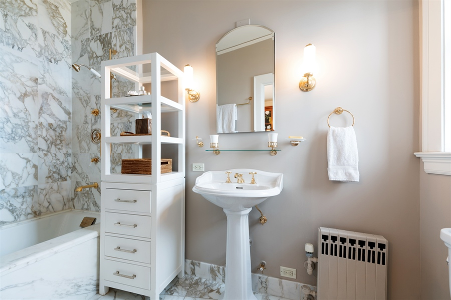 Real Estate Photography - 1120 N. Lake Shore Drive, Unit 8A, Chicago, IL, 60611 - Master Bathroom