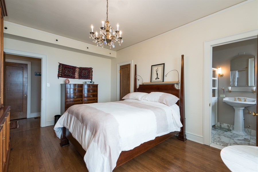Real Estate Photography - 1120 N. Lake Shore Drive, Unit 8A, Chicago, IL, 60611 - Master Bedroom