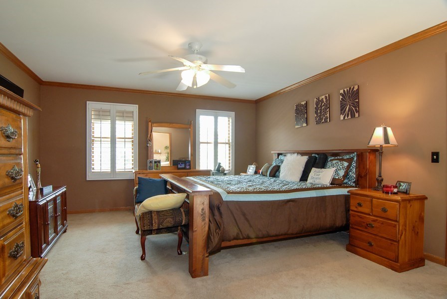 Real Estate Photography - 1508 Meadowland Drive, Naperville, IL, 60540 - Master Bedroom