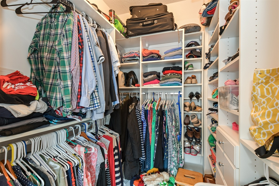 Real Estate Photography - 1529 S. STATE Street, Unit 8D, Chicago, IL, 60605 - Master Bedroom Closet
