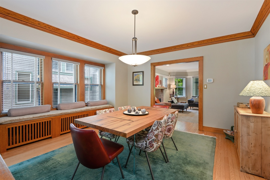 Real Estate Photography - 735 Michigan Ave, Evanston, IL, 60202 - Living Room / Dining Room